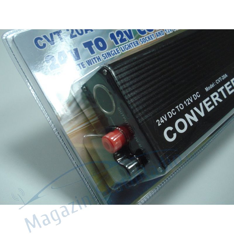Convertor tensiune 24-13.8V 20A  nextraCOM  CVT 20A