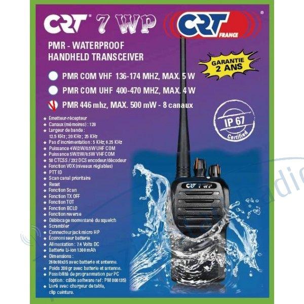 NOU 2015: Statie radio portabila PMR profesionala CRT 7WP PMR446 rezistenta la apa