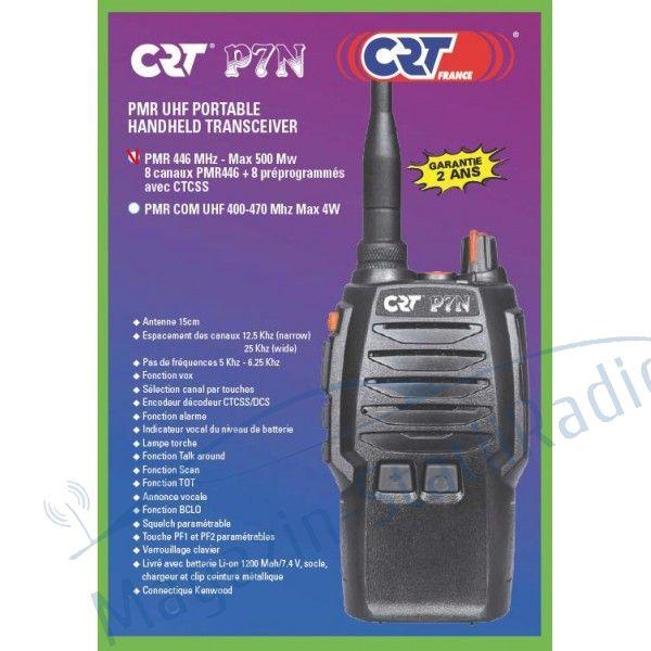 SET: 2BUC: Statie radio portabila PMR profesionala/ semi profesionala CRT P7N PMR 446