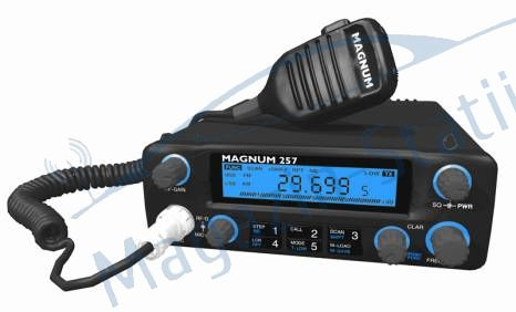 Statie Magnum 257 display albastru-banda 10m