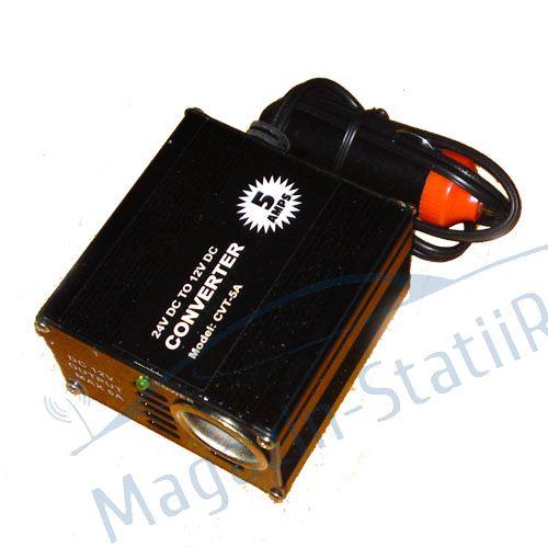 Reductor de tensiune 24/12 V 5 AMP - mufa bricheta