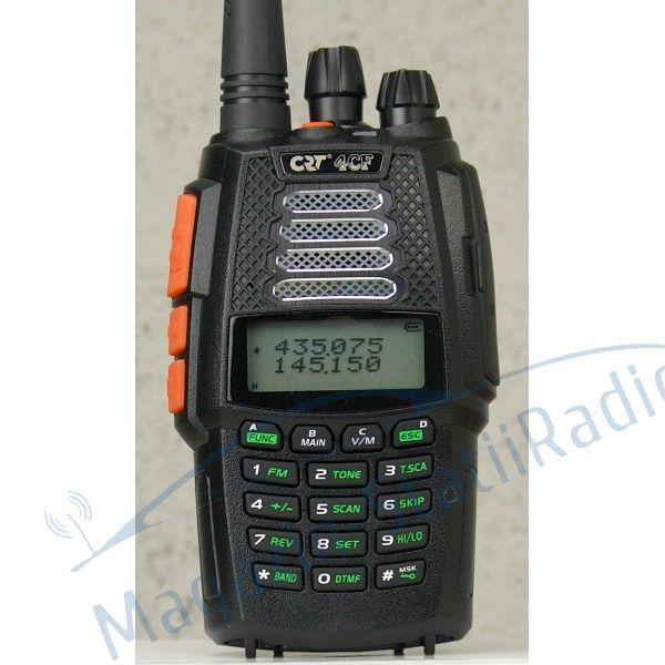 MODEL NOU: Statie Radio Portabila Dualband VHF/UHF CRT 4 CF