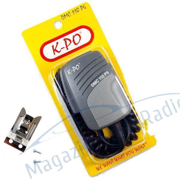 Microfon Dinamic K-PO Pentru Statii Radio CB. Mufa 4 Pini