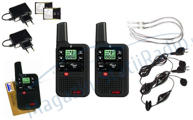 INTEK PMR / LPD SL 02 Statie Portabila, Kit complet cu Sistem VOX - Hands Free.