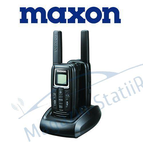 Set 2 Statii Semi-Profesionale Portabile MAXON S1 PMR 446MHz, Licenta Libera.