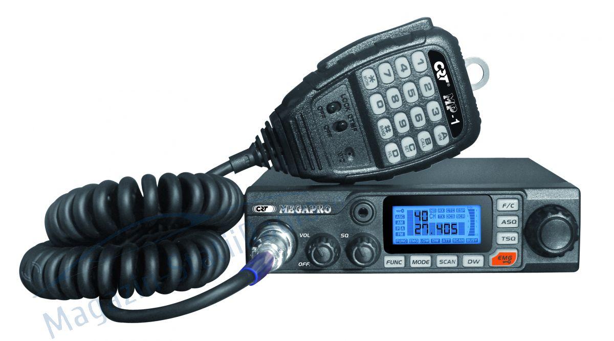 Statie Radio CB CRT MEGAPRO 12/24V, multinorm, 40 canale,S-METER