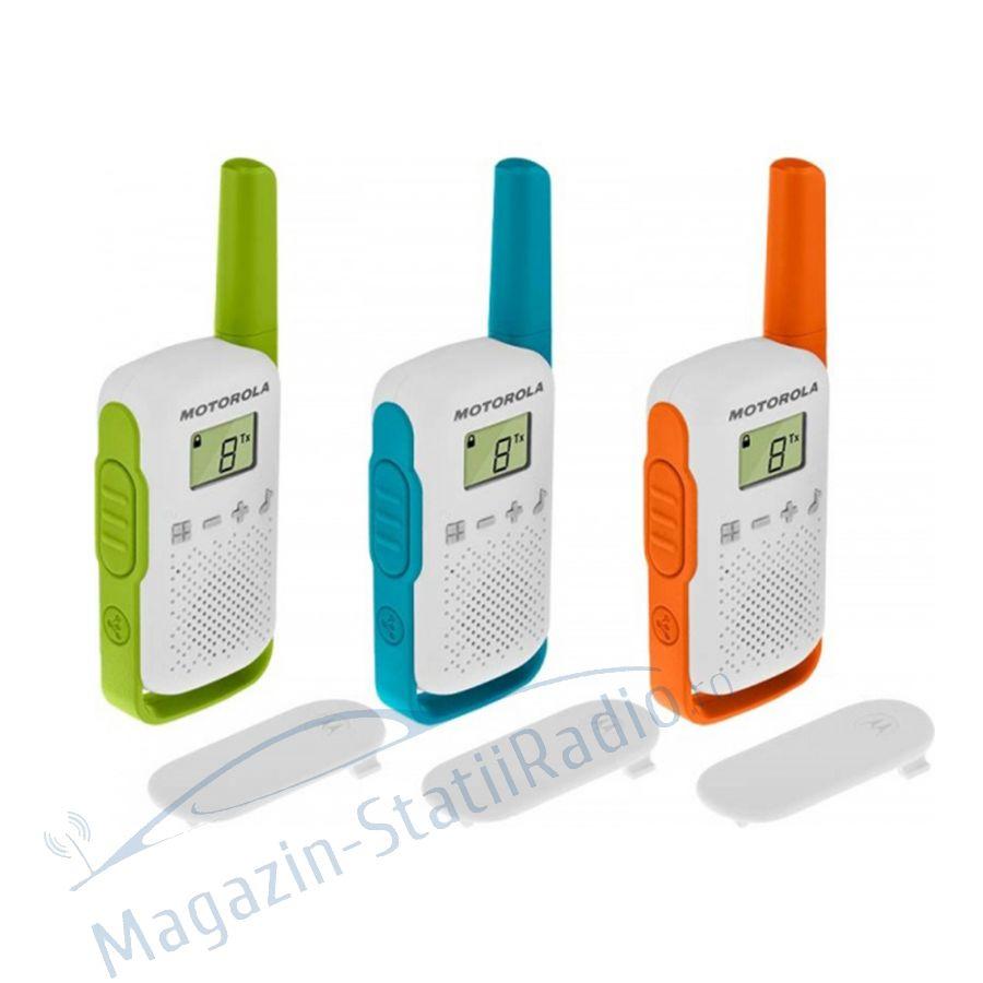 Statie radio PMR portabila Motorola TALKABOUT T42 set 3 buc