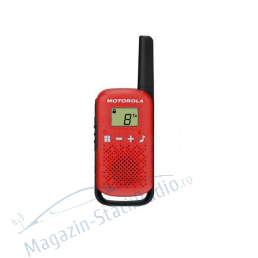 Statie radio PMR portabila Motorola TALKABOUT T42 Red set 2 buc