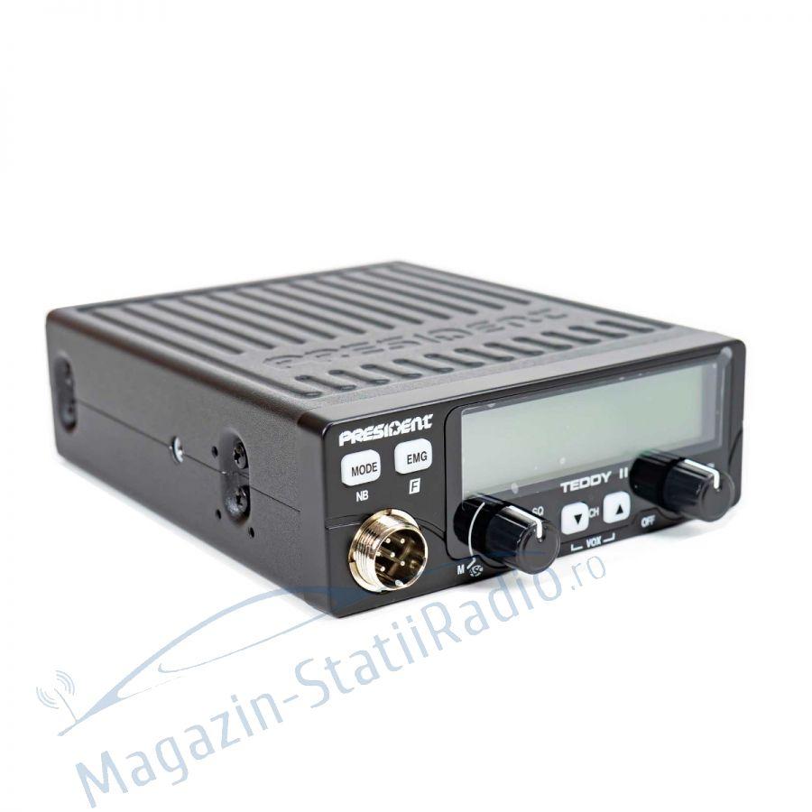 Statie Radio President Teddy II ASC, Model 2021 + Antena MEGAWAT ML147, 1.45m