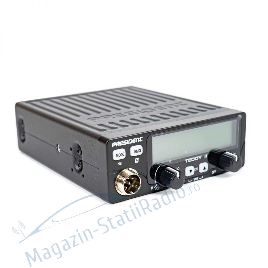Statie Radio President Teddy II ASC, Model 2021 + Antena MEGAWAT CB13, 1m