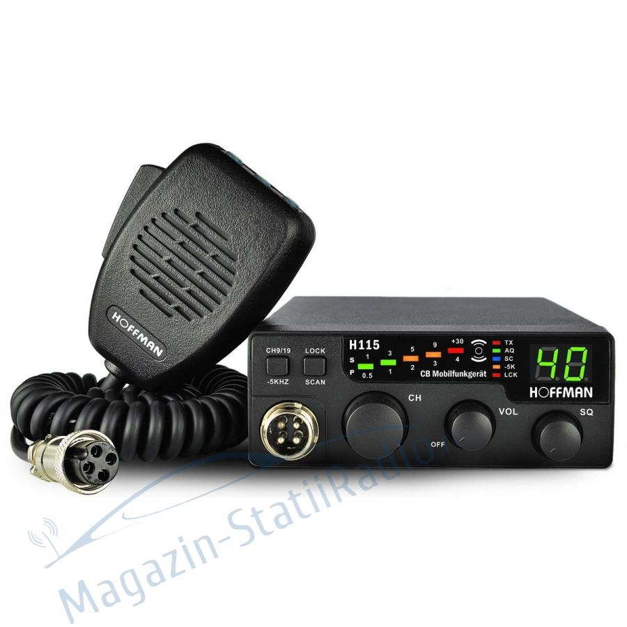 Statie radio CB HOFFMAN H 115,putere 4W