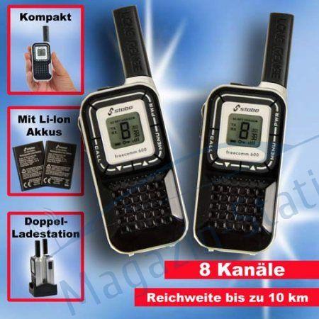 Set: Statie radio portabila PMR Semiprofesionala Stabo Freecom 600