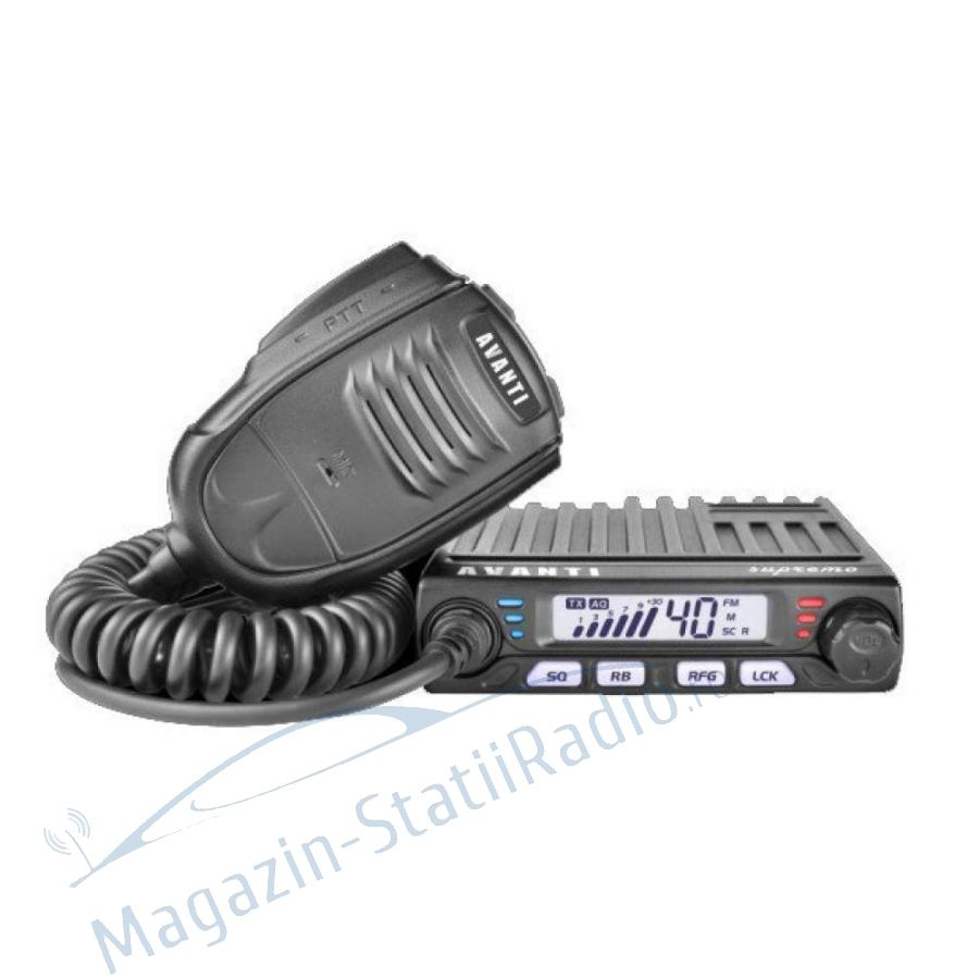 Statie Radio CB Avanti Supremo- Model nou,  AM/FM, ASQ