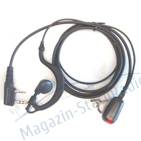 Casca cu microfon MICRO TIP K pentru statie profi PMR CRT P7N, CRT P2N, P7E, 7WP, 2FP, 3DB