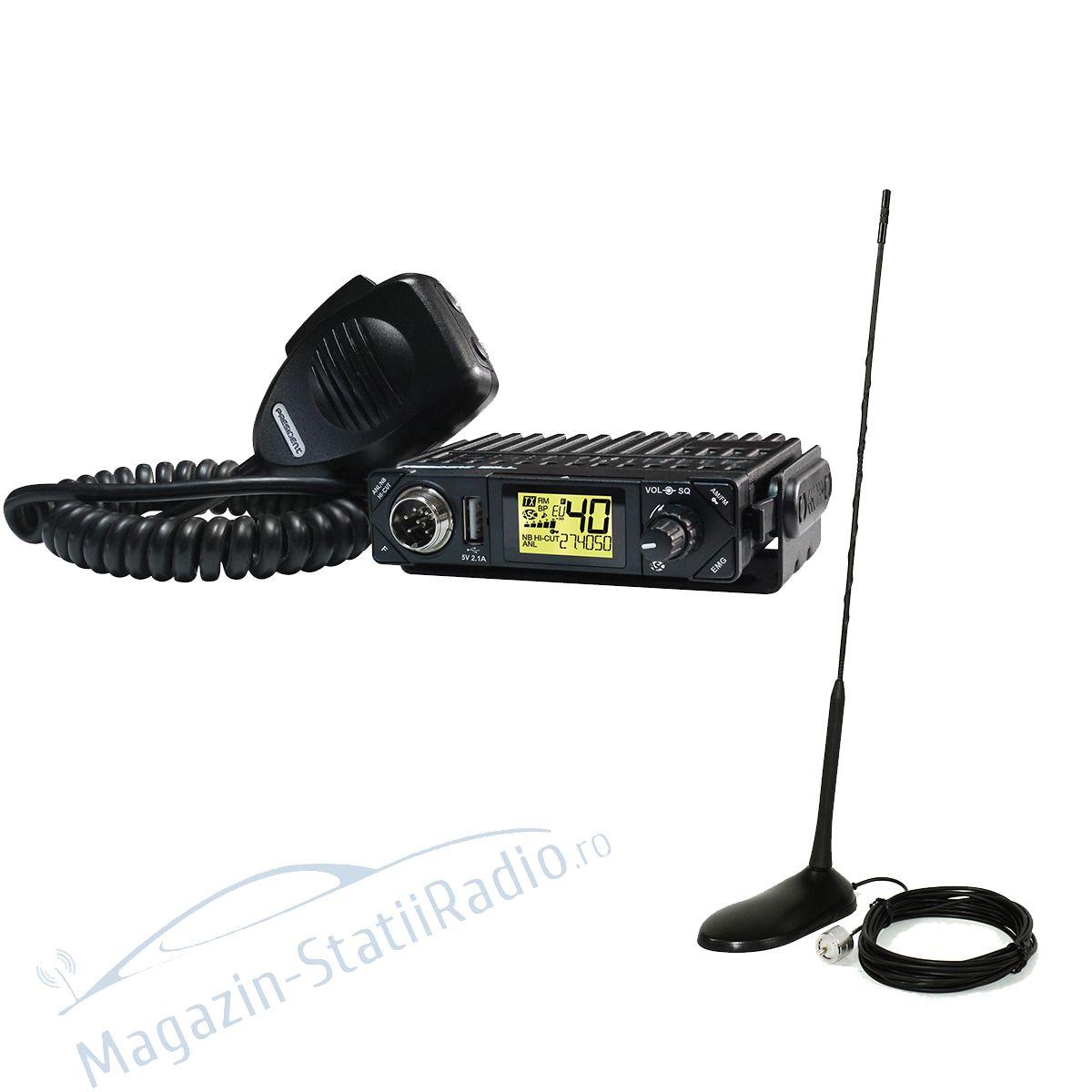 Statie Radio President BILL AM/FM ASC + Antena CB PNI Extra 45